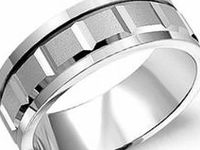 CROWN RING -- Gents Carved bands in White & Yellow Gold / Carved Wedding Bands: This collection offers the elegance & timelessness of traditional wedding bands, with a slightly modernized aethetic.  Crafted from only the finest materials, the carved collection offers an understated punch of style while still embracing the sleek, clean lines of the classic wedding band.