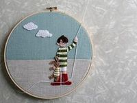 Tambours à broder / embroidery hoops
