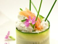 ... - Oh fancy on Pinterest | Foie gras, Panna cotta and Smoked salmon