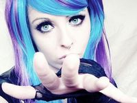 Just a bunch of random emo/goth pics.. You know.. The usual..