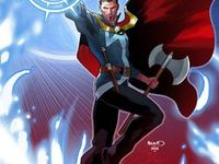 Doctor Strange | Stephen Strange / Stephen Vincent Strange is one of the most powerful sorcerers in the world. He uses mystical energy invoked upon by spells/ incantations or by the power of divine beings to manipulate forces of the universe including projection of mystic energy e.g. as bolts, binds, shields, controlling the elements, opening or sealing mystical portals to other realms, teleportation, invisibility,communication with the dead and spiritual entities, seeing the future or past, manipulating dreams etc. #Marvel