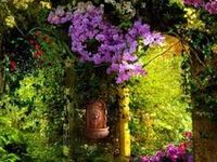 Wind chimes in your yard will serenade garden creatures — squirrels, fairies and angels.  Garden fairies come at dawn, Bless the flowers then they're gone. SECRET,MAGICAL GARDENS,FLOWERS.....