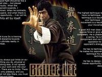 """""""The great mistake is to anticipate the outcome of the engagement; you ought not to be thinking of whether it ends in victory or defeat. Let nature take its course, and your tools will strike at the right moment."""" (Bruce Lee)"""