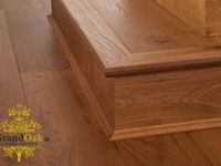 Oak Flooring Stair Nosing / Grand Oak stair nosing allows you to continue your floor scheme where there are stairs. Our stair nosing is available in our entire colour range.