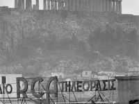 Athens documentary, B&W / black & white photos of city's people and places