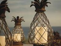 .....mason jars, lanterns, and candle holders!