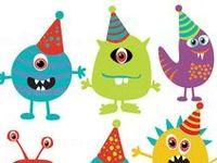 Inspiración para organizar una fiesta de cumpleaños temática: monstruos.