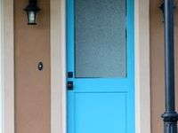 Pretty Colored Painted Doors!