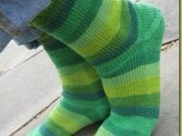 Knitting socks and mittens
