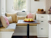 Our favorite eat-in kitchens and cozy seating areas!