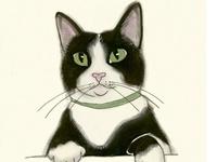 Animals: Kitties in art, too