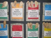 Καρτέλες , πίνακες και πολλές ιδέες  σχετικά με τα καθήκοντα και του βοηθούς της τάξης.
