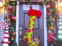 On pinterest christmas door deco mesh ribbon and front doors
