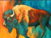 Acrylic Paintings Of Buffalo