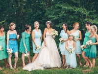 Think gorgeous Spring and Summer weddings filled with bright colors. Blue bridesmaid dresses are the perfect addition to your Big Day color palette. Whether they are long, short or tea-length your bridesmaids are sure to love this classic color!