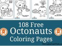 Decorations, favors, food, free printables & ideas for an ocean-themed Octonauts Birthday Party.