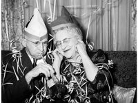 Party Goers / Party Time, party people, parties, Vintage and retro parties