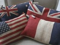 Red, White & Blue Rooms And Decor Objects