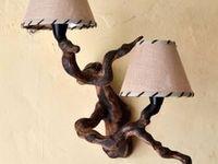 Светильники и люстры  из дерева./ Lamps and chandeliers made of wood / Аксессуары для оформления интерьера,деревянных домов.Осветительные приборы из дерева (в деревянном стиле).Идеи для изготовления деревянных светильников.Wooden fixtures.