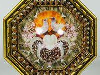 Sailor Valentines, seashell mosaics