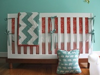 17 Best Images About Baby Room Coral Amp Aqua On Pinterest