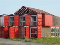 Different designs on building homes from shipping containers.