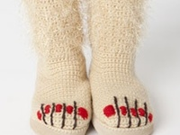 Crochet Clothing, Foot and Leg Wear