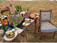 parties party ideas pretty foods table settings drinks barwear glasses plates flowers art design event planning