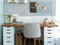 Office / Home Office, Home Office Ideas, Organized Office, Organized Working, Workspaces, Organization, Home Office Organization, Storage, DIY, Work From Home