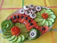 watermelon, fruits & vegetables