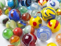 Glass: marbles,paperweights,beads and ornaments.