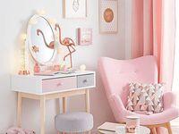 House  / Modern, pastel pink, tropical & metallic style