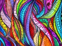 Love to doodle..love to draw - journal each day what you saw!! The creative expression of putting my thoughts to paper surrounded by art is fulfilling in a way that just simply... feeds my soul!  Love color... the blending of colors intricate shapes and forms ahhhhh.....yes!!!