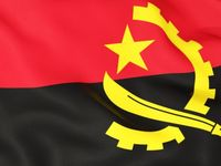Angola~AO / Angola (/æŋˈɡoʊlə/), officially the Republic of Angola (Portuguese: República de Angola pronounced [ɐ̃ˈɡɔlɐ]; Kikongo, Kimbundu and Umbundu: Repubilika ya Ngola), is a country in Southern Africa. It is the seventh-largest country in Africa, bordered by Namibia to the south, the Democratic Republic of the Congo to the north, Zambia to the east, and the Atlantic Ocean to the west. The exclave province of Cabinda borders the Republic of the Congo and the Democratic Republic of the Congo. The capital and largest city of Angola is Luanda.  Although inhabited since the Paleolithic Era, what is now Angola was molded by Portuguese colonisation. It began with, and was for centuries limited to, coastal settlements and trading posts established starting in the 16th century. In the 19th century, European settlers slowly and hesitantly began to establish themselves in the interior. The Portuguese colony that became Angola did not have its present borders until the early 20th century because of resistance by groups such as the Cuamato, the Kwanyama and the Mbunda.  After a protracted anti-colonial struggle, independence was achieved in 1975 as the Marxist-Leninist People's Republic of Angola, a one-party state supported by the Soviet Union and Cuba. The civil war between the ruling People's Movement for the Liberation of Angola (MPLA) and the insurgent anti-communist National Union for the Total Independence of Angola (UNITA), supported by the United States and apartheid South Africa, lasted until 2002. It has since become a relatively stable unitary presidential republic.  Angola has vast mineral and petroleum reserves, and its economy is among the fastest-growing in the world, especially since the end of the civil war. But the standard of living remains low for most of the population, and life expectancy in Angola is among the lowest in the world, while infant mortality is among the highest. Angola's economic growth is highly uneven, with most of the nation's wealth
