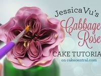 All kinds of edible cake decorating flower tutorials