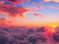 """""""Clouds come floating into my life, no longer to carry rain or usher storm, but to add color to my sunset sky."""""""