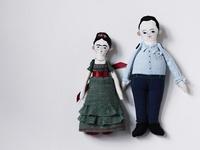 Handmade dolls and softies.