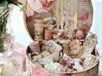 Pink, lacey, feminine,, roses, chintz, crystal, ruffles, lovely, soft, cozy