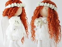 Handmade fabric dolls / Cute handmade textile dolls from all over the world. So many talented people! Enjoy ❤️