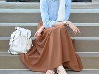 Hijab fashion / skirts and blouses