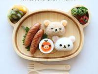 Cute food / This board is filled with cute foods that are almost too cute to bite into.