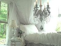 I have a slight obsession with big ornate beds.  Since I don't sleep much I could just have a beautiful bed to look at.