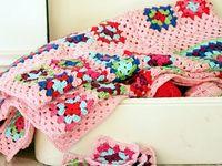 Crochet Squares-Motifs-Hearts-Flowers-Stars