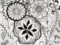 ZENTANGLE, DOODLE AND COLORING PAGES