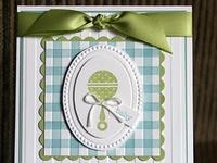 scrapbook cards - baby