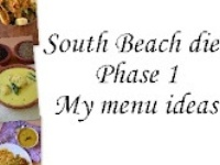 South beach food list phase one