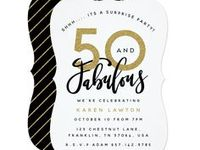 50TH BIRTHDAY IDEAS / NEED INSPIRATION FOR A 50TH BIRTHDAY PARTY? FIND IT HERE WITH THESE 50 AND FABULOUS BIRTHDAY PARTY ITEMS, T-SHIRTS, GIFTS, INVITATIONS, CARDS