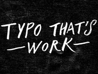 typo that's work