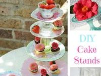CREATE SIMPLE OR ELEGANT STANDS FOR ANY OCCASION TO DISPLAY YOUR FAVORITE DESERTS OR APPETIZERS.