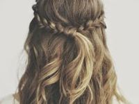 Beach waves, sandy blond, layers, golden highlights, buns, ponytails and braids. Here is my hair inspiration.